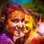 Painted girls at India's Holi Festival